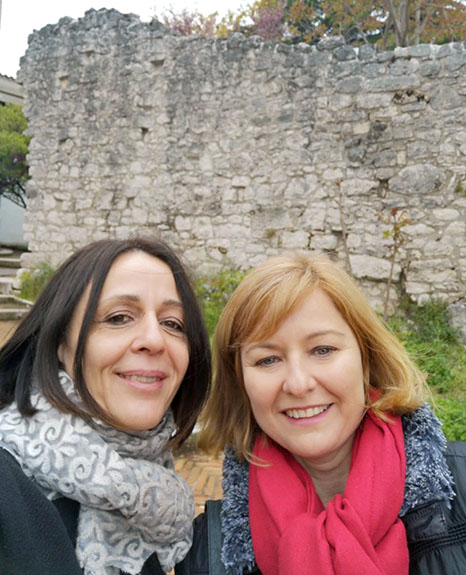 Patricia Company supervisando las prácticas de alumna de dietética en Italia