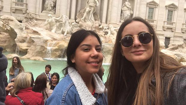 Celia Suñer y Jéssica Zúñiga alumnas dietética INTER realizando Erasmus + en Italia