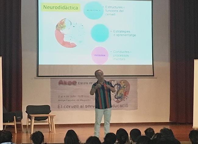 Josep Arregui en las Jornadas de Neuroeducación en Valencia