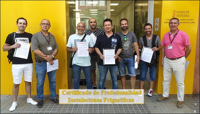 Alumnos de Inst. INTER que finalizan el curso de Frigorista (julio 2019)