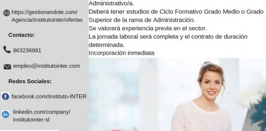 Oferta de Empleo en FormaPractic