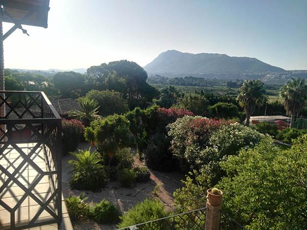 Vistas del Montgó desde el hotel Buenavista en Dénia