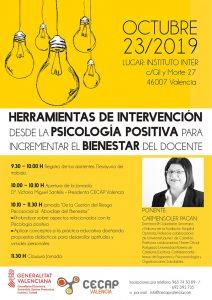 """Cartel Jornada CECAP """"Psicología Positiva"""""""