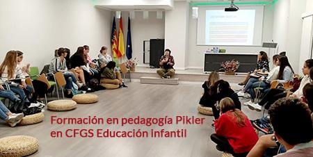 Formación en pedagogía Pikler en CFGS Educación infantil