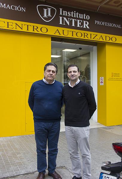 Vicente Soler, responsable Proyectos Europeos en INTER, junto a Claudio Carratù
