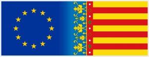 Bandera de la UE y Senyera