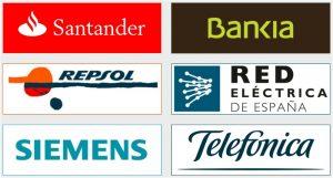 Logotipos de grandes empresas