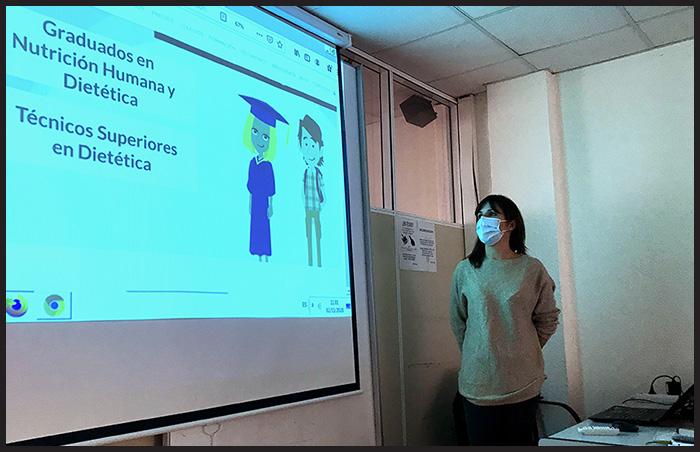 Meritxell Giménez en Instituto INTER