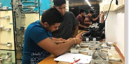 Alumnos INTER practicando