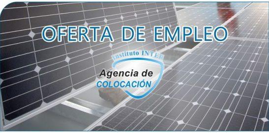 Oferta de Empleo: Instalador Energías Renovables