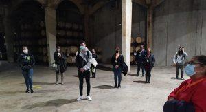 Los alumbnos de Instituto INTER visitan las bodegas de Vicente Gandía.