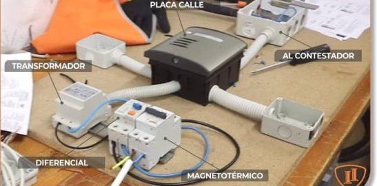 MONTAJE DE UN PORTERO ELECTRÓNICO