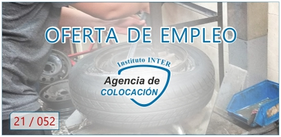 Oferta de Empleo: MECÁNICO AUTOMÓVIL