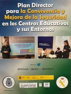 Cartel Plan Director para la Convivencia y Mejora de la Seguridad en los Centros Educativos