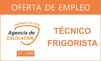 Oferta de Empleo: TÉCNICO FRIGORISTA