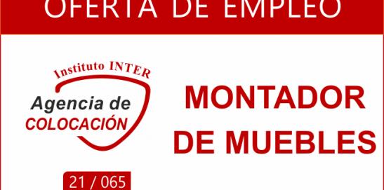 Oferta de Empleo: MONTADOR DE MUEBLES